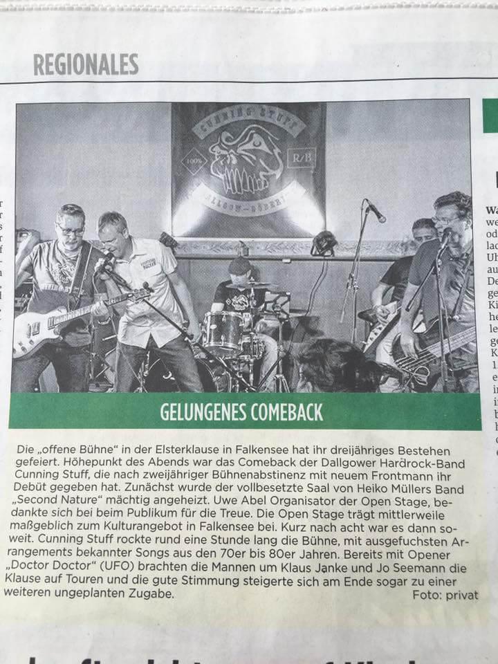 Pressebericht Falkensee, Elsterklause