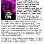 Bandcontest Falkensee Aktuell 30.08.2018